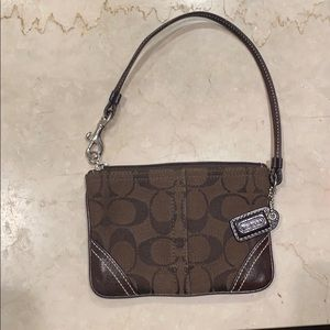 COACH Wristlet Wallet Leather Small Purse